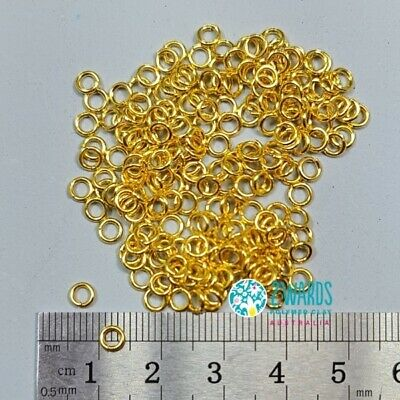 4mm Gold Open Jump Rings - Nickel Free - 200 Pieces - 2wards Polymer Clay & C...