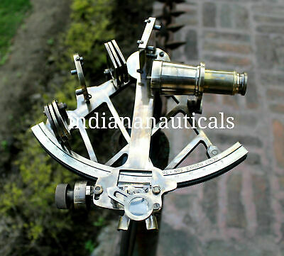 Nautical Heavy Brass Collectible Working Sextant Ship Astrolabe Marine Style