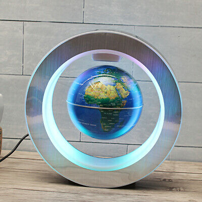 4''Rotating World Globe Magnetic Free Standing Teaching Geography Ball Gift 10cm