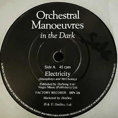 """Orchestral Manoeuvres In The Dark Electricity Factory Dindisc DIN2 7"""" EX COND"""