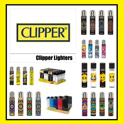 4 x Clipper Lighters | 100% Genuine | Wide Variety In Stock