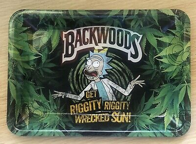 New Rick And Morty Large Rolling Tray Tobacco Herb