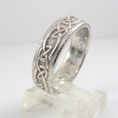 size 7 Sterling Silver 8x8mm knot Double Infinity Celtic Love Knot 2mm band Ring