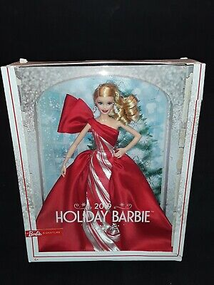 "2019 Holiday Barbie Signature Doll Mattel 11.5"" Blonde Curls (Distressed Box)"