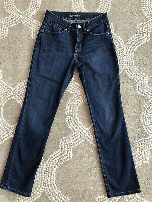 Womens LEE Perfect Fit Straight Leg Size 6 M Blue Jeans VGC