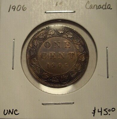Canada Edward VII 1906 Large Cent - Unc