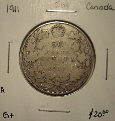 A Canada George V 1911 Silver Fifty Cents - G+
