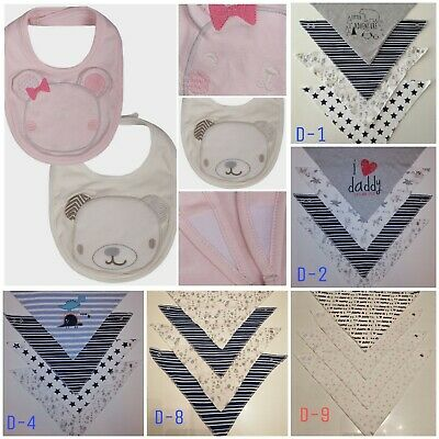 4Pcs Infant Kids Baby Bibs Boy Girl Saliva Towel Triangle Bandana UK seller