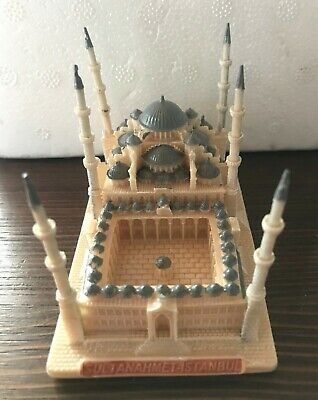 ORIGINAL MINIATURE of SULTAN AHMED MOSQUE, BLUE MOSQUE SOUVENIR from TURKEY