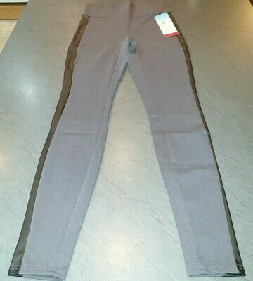 Spanx Structured Leggings with Racing Stripe, Grey UK Size M (12-14) Red Hot