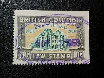 Canada Stamp #BCL46 British Columbia 10 Cents Law Stamp Revenue BC #A113