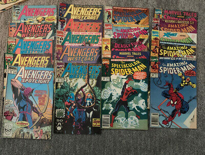 20 Marvel Comic Books Avengers And Spider Man Gift Bundle  Bag  Lot