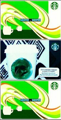 3x STARBUCKS 2010 2013 CANADIAN AROMA TALL COFFEE CUP COLLECTIBLE GIFT CARD LOT