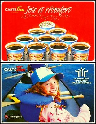 2x TIM HORTON CHILDREN FOUNDATION BUY 10 GET 1 FREE COLLECTIBLE GIFT CARD LOT