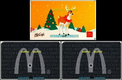 3x McDONALD 2013 2019 CHRISTMAS SILVER MAPLE LEAF ARCH COLLECTIBLE GIFT CARD LOT
