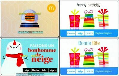 4x McDONALD CHAPTERS SNOWMAN BIGMAC HAPPY BIRTHDAY COLLECTIBLE GIFT CARD LOT