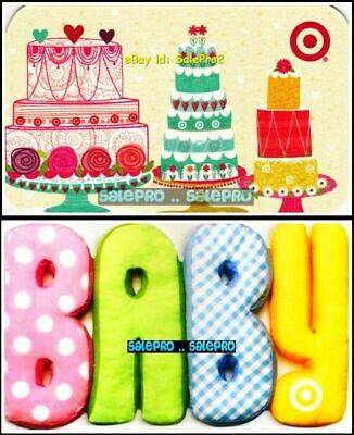 2x TARGET CANADA 2010 USA BABY CLOTHING CAKE & CUPCAKE COLLECTIBLE GIFT CARD LOT