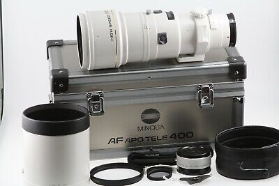 Minolta AF 400mm f/4.5 G Apo Tele High Speed Alpha Mount w/1.4x Converter (EXC+)