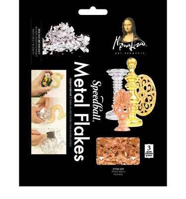 Mona Lisa Metal Flakes Copper 3gm - 2wards Polymer Clay & Crafts