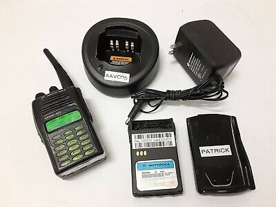 Motorola EX600 XLS UHF Handheld Radio with Charger and Extra Battery.