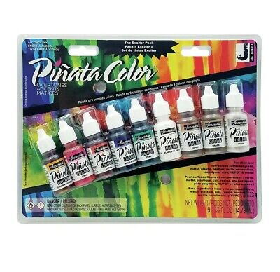 Jacquard Pinata Alcohol Ink Exciter Pack - Overtones - 2wards Polymer Clay & ...