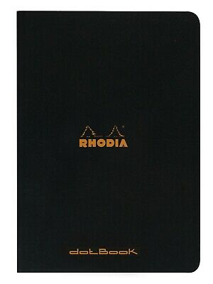 Rhodia Staplebound Notebook 8 1/4 x 11 3/4 Dot Grid Black
