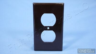 Leviton Brown 1-Gang EXTRA DEEP Duplex Receptacle Cover Outlet Wall Plate 85303