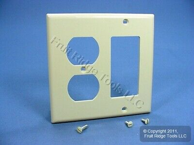 Leviton Ivory Decora GFCI GFI Cover Duplex Outlet Receptacle Wall Plate 80746-I