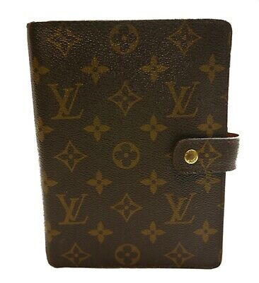 Authentic LOUIS VUITTON Notebook cover Agenda MM PVC #1290