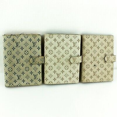 Auth LOUIS VUITTON AGENDA PM Notebook Cover Monogram Mini 3 Pieces Set