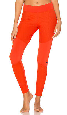 Adidas Stella Mccartney Leggings Ladies/Womens Orange Tight Fit Gym/Training New