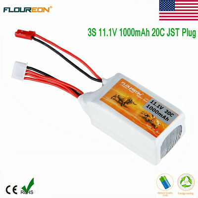 11.1V 3S 1000mAh 20C Lipo Battery JST for RC Quadcopter Car Truck Helicopter FPV