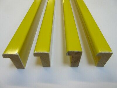 2m (55x50cm) Gloss Yellow Deep Profile Wooden Picture Frame Moulding 14mm