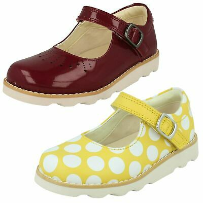 Infant Girls Clarks Casual Everyday Hook & Loop Leather Shoes Crown Jump