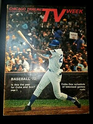 1972 Tribune TV WEEK : BILLY WILLIAMS cover ; Chicago Cubs / White Sox schedule