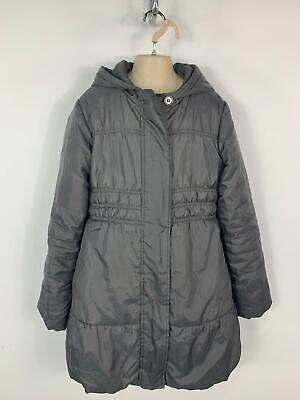 Girls Marks&Spencer Grey School Hood Winter Jacket Rain Coat Kids Age 11 Years