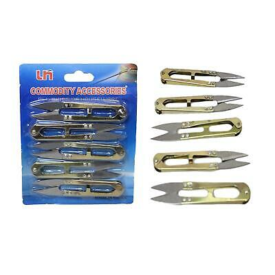 Mini Metal Sewing Embroidery Garden Scissors Clippers Snips Trimmers 5pcs