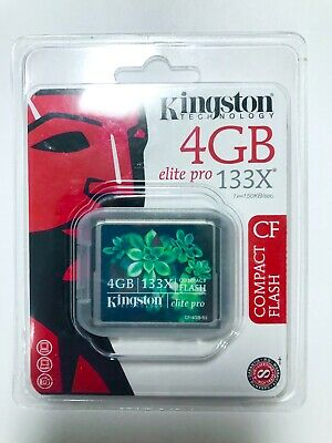 Kingston 4GB Elite Pro 133X Compact Flash        Brand New Never Been Openened