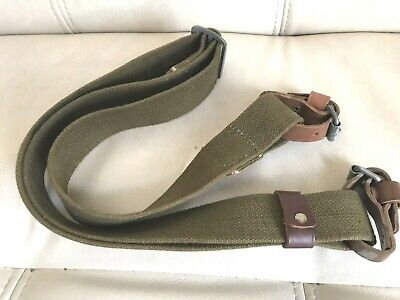 Original Soviet Mosin Nagant rifle carrying sling NICE with leather straps 1953