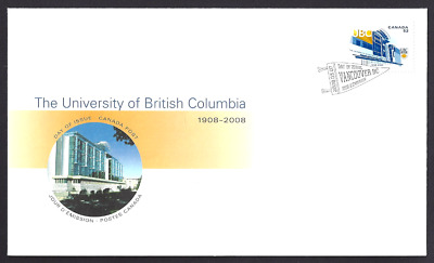 Canada  # 2264   University - British Columbia  Brand New 2008 Unaddressed Cover