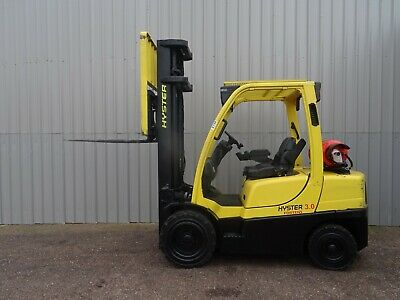 HYSTER H3.0FT. 5800mm LIFT. USED GAS FORKLIFT TRUCK. #2726