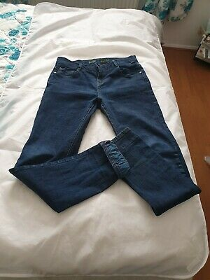 Boys Ted Baker Indigo Blue Jeans Slim Fit Straight Leg Age 14 164 Height VGC