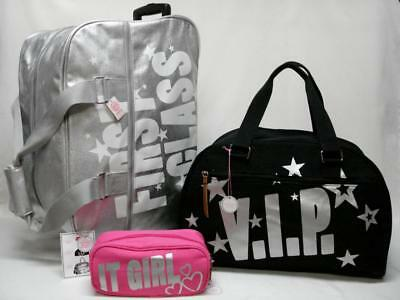 Nwt Victorias Secret Pink 3Pc Rolling Duffle, Carry On & Cosmetic Bag Vip
