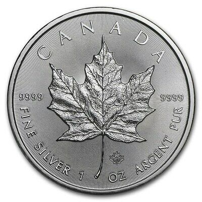 2020  Canada 1 oz Silver Maple Leaf Coin BU FS