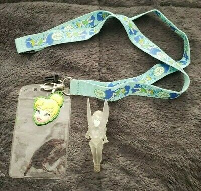 Disney Tinkerbell Lanyard KeyChain with ID Pocket Cell Phone Strap
