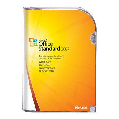 MS Microsoft Office 2007 Standard Full English Retail Version Code And Box