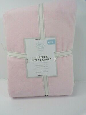 Pottery Barn Kids Luxe Chamois Fitted Sheet Twin Light Pink #6248