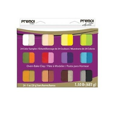 Premo! Sculpey 24 Colour Sampler Pack - 2wards Polymer Clay & Crafts