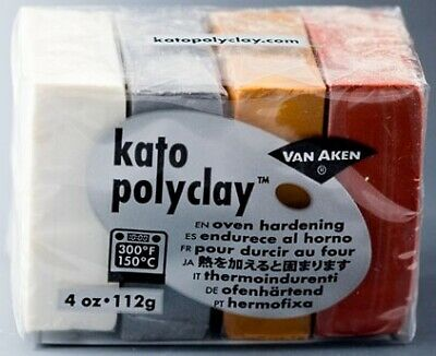 Kato Polyclay Sample Set – 4 Metallic Colours - 2wards Polymer Clay & Crafts