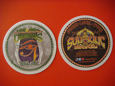 Beer Coaster ~ SUN KING Brewing Co Osiris Pale Ale ~ Indianapolis, INDIANAPOLIS